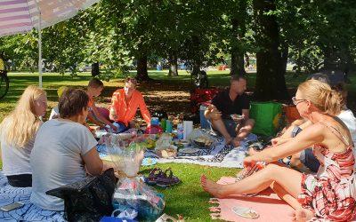 Picknick in het Euromastpark